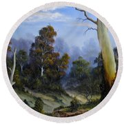 Country View Round Beach Towel