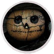 Creepy Halloween Pumpkin Round Beach Towel