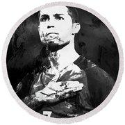 Cristiano Ronaldo Oki Round Beach Towel