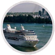 Cruise Ship 4 Round Beach Towel