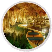 Crystal Cave In Hamilton Parish Bermuda Round Beach Towel
