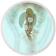 Cupid The God Of Desire Round Beach Towel