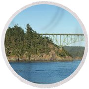 Deception Pass Round Beach Towel
