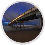 Deerfield Beach, Florida Pier Round Beach Towel