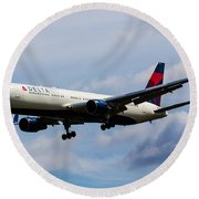 Delta Airlines Boeing 767 Round Beach Towel