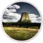 Devil's Tower - Wyoming Round Beach Towel
