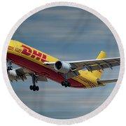 Dhl Airbus A300-f4 Round Beach Towel
