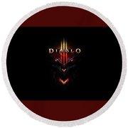 Diablo IIi Round Beach Towel