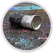 Discarded Spray Paint Can Round Beach Towel