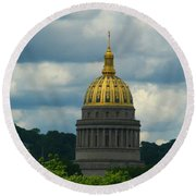 Dome Of Gold Round Beach Towel