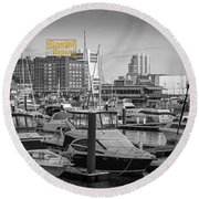 Domino Sugars Round Beach Towel