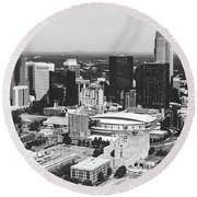 Downtown Charlotte Round Beach Towel