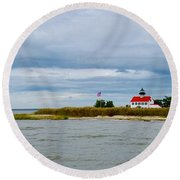 East Point Lighthouse Round Beach Towel