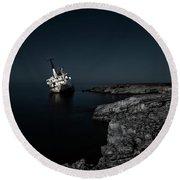 Edro IIi Shipwreck - Cyprus Round Beach Towel
