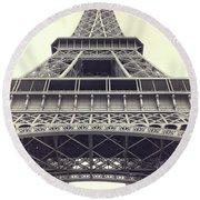 Eiffel Tower By The Seine Round Beach Towel