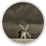 English Windmill Round Beach Towel