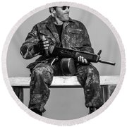 Expendables 3 2014  Round Beach Towel