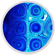 2 Faces Of Blue Round Beach Towel