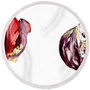 Fading Beauty Round Beach Towel