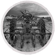 Farmall Tractor Round Beach Towel