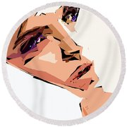 Female Expressions Xii Round Beach Towel