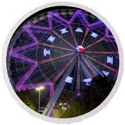 Ferris Wheel At The Texas State Fair In Dallas Tx Round Beach Towel