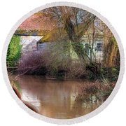 Fiddleford Mill - England Round Beach Towel