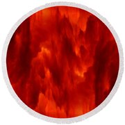 Fiery Clouds Round Beach Towel