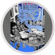 Film Homage Esther Williams Skirts Ahoy 1952 St. Patrick's Day Party Tucson Arizona 1985-2012 Round Beach Towel