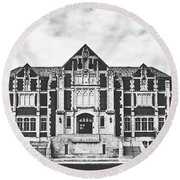 Fine Arts Building - Ball State University Round Beach Towel