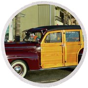 Ford California Woody Station Wagon Round Beach Towel