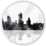 Fort Worth Texas  Skyline Round Beach Towel