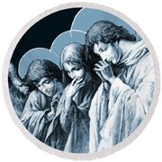 Four Angels Round Beach Towel