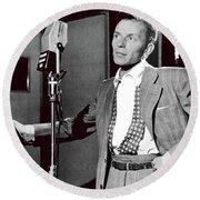Frank Sinatra William Gottlieb Photo Liederkranz Hall New York City 1947-2015 Round Beach Towel