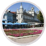 Freedom Square, Ruse, Bulgaria Round Beach Towel