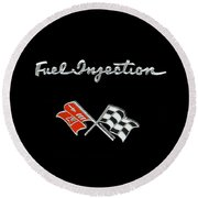 Fuel Injection Round Beach Towel