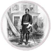General George Mcclellan Round Beach Towel