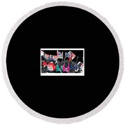 George Wallace For President Supporters Democratic Nat'l Convention Miami Beach Florida 1972-2013 Round Beach Towel