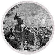 George Whitefield Round Beach Towel