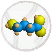 Ghb Molecular Model Round Beach Towel