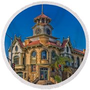 Gilroy's Old City Hall Round Beach Towel