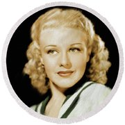 Ginger Rogers, Legend Round Beach Towel