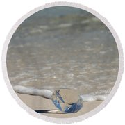 Glass Diamond On The Beach Round Beach Towel
