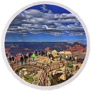 Grand Canyon #  4 - Mather Point Overlook Round Beach Towel