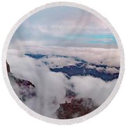 Grand Canyon Above The Clouds Round Beach Towel