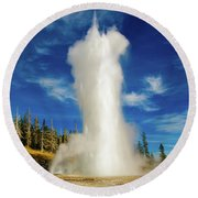 Grand Geyser Round Beach Towel
