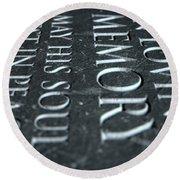 Gravestone In Loving Memory Round Beach Towel