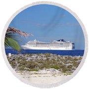 Great Stirrup Cay Round Beach Towel