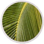 Green Palm Leaf Round Beach Towel