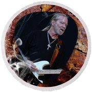 Gregg Allman Art Round Beach Towel